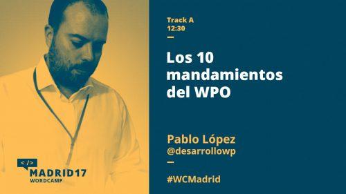 Los 10 mandamiento del WPO - Pablo López