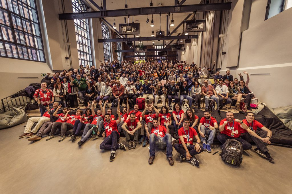 Foto de grupo de la WordCamp Madrid 17